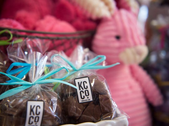 Chocolate bunnies made by Knoxville Chocolate Company