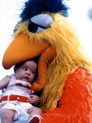 San Diego Chicken from a 2002 event.