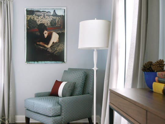 Contemporary painting and chair