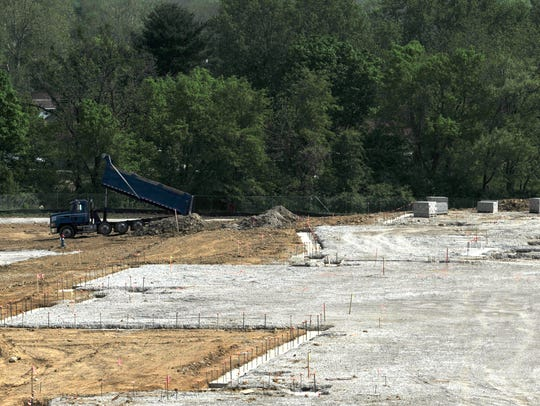 Early stages of construction work has begun at the