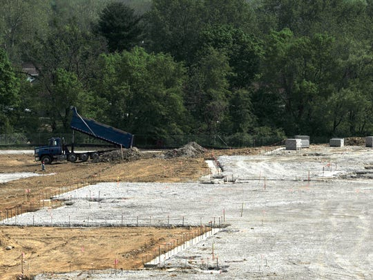 Early stages of construction work has begun at the new site of Thomas Ewing Junior High School on Sheridan Drive near Rainbow Drive in Lancaster.