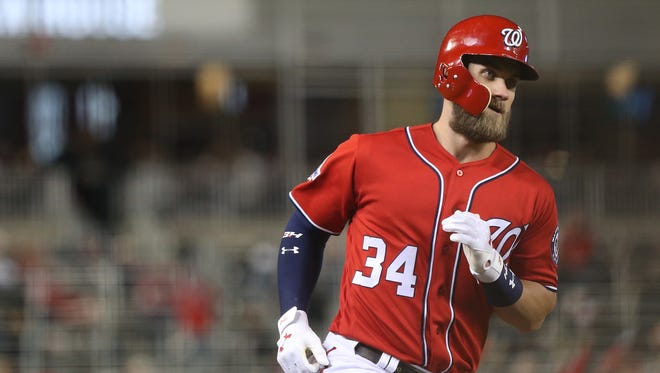 Bryce Harper has 22 home runs, second in the NL.