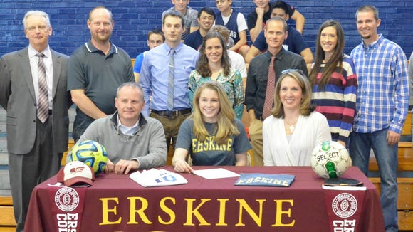 Veritas Christian Academy senior Haley Gilbert has signed to play college soccer for Erskine (S.C.).