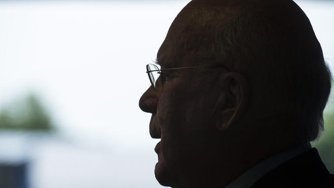 Sen. Patrick Leahy reflects on the normalization of relations between the United States and Cuba during a news conference at his offices in Burlington on Monday.