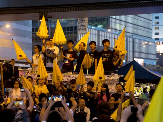 Deanie Yip, Anthony Wong, Joshua Wong, Benny Tai, Alex Chow, Tommy Cheung