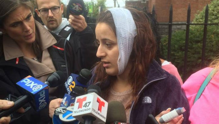 Alexis Valle, 24, from Bergenfield, five months pregnant,
