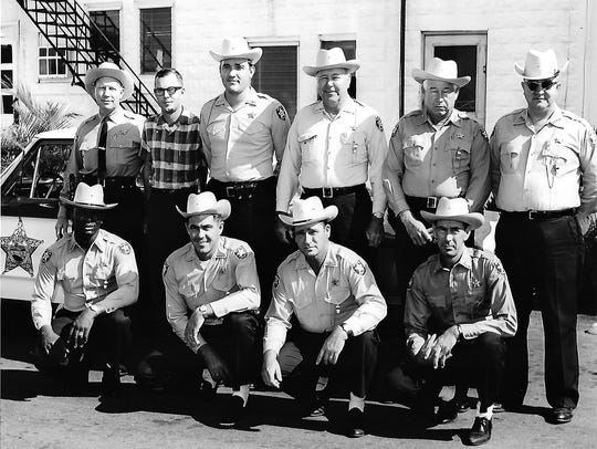Sheriff Baker and his deputies in the early 1960s