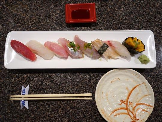 Nigiri Sushi at Hiro Sushi.