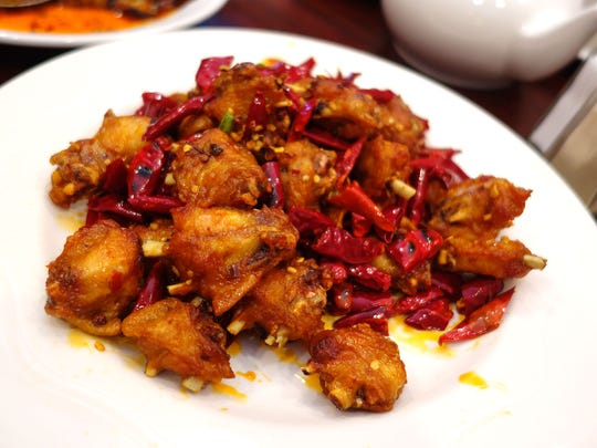 Ching Ging spicy chicken at Chengdu Delight.