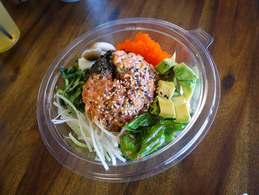 Spicy tuna bowl at Chula Seafood