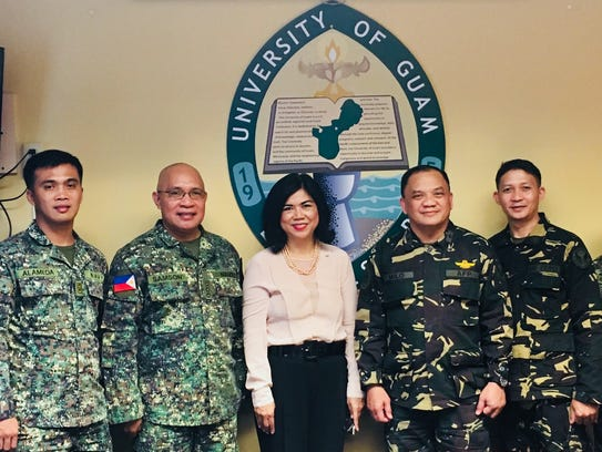 Armed Forces of the Philippines visits UOG: Organized