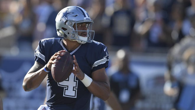 Dak Prescott is scheduled to make his first NFL start on Sunday against the New York Giants.