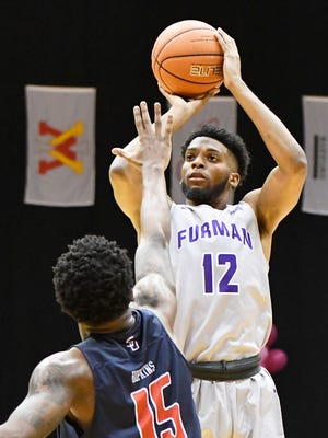 Furman's Devin Sibley had 20 points, nine rebounds and three assists in Friday's win against New Hampsire
