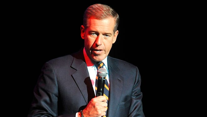Brian Williams speaks at the 8th Annual Stand Up For Heroes, presented by New York Comedy Festival and The Bob Woodruff Foundation in New York on Nov. 5, 2014.