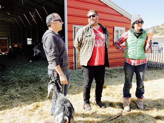 Rick Marino chats with the owners of Angeles Crest Creamery.