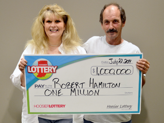 Robert Hamilton in July won a $1 million lottery prize for the second time in three months. He is shown here with his wife, Donna Hamilton.