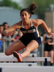 Lancaster's Hope Purcell placed eighth in the 100 hurdles