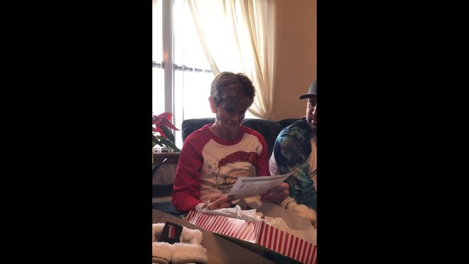 A grandmother from Texas gets tickets to the Texas Bowl for Christmas.
