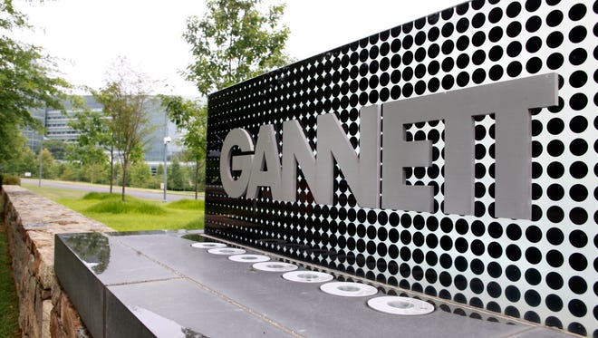 The sign for Gannett headquarters in McLean, Va.