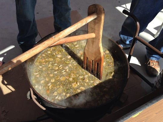 Mmmm, gumbo. The West Side Nut Club cooks their signature stew right in a giant iron kettle.