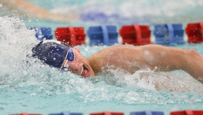 Pittsford's Liam Murphy won the 200 freestyle against Fairport.