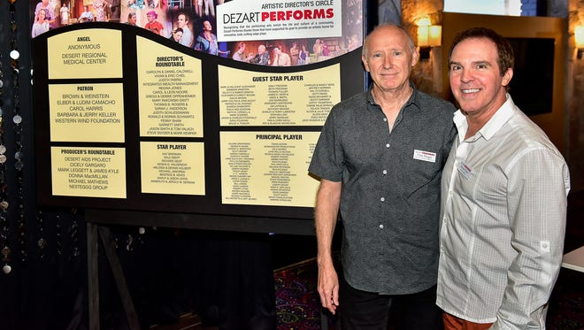 Dezart Performs Board President Clark Dugger and Artistic Director Unveil Donor Wall