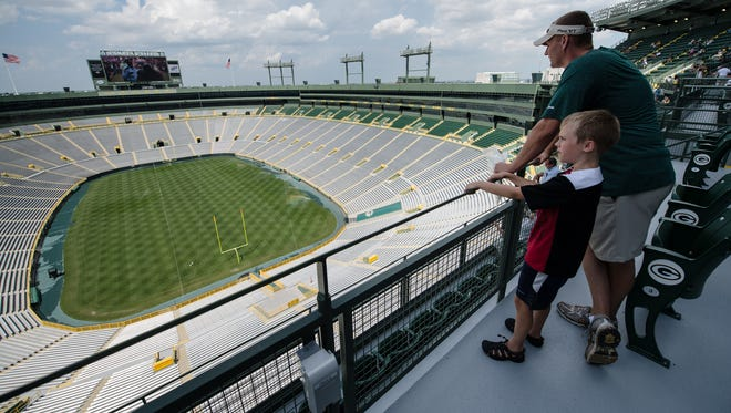 The Green Bay Packers are selling a limited number of standing-room-only tickets behind section 434S in the South End for its game Sunday against the Chicago Bears and Nov. 16 against the Philadelphia Eagles.