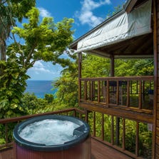 Jamaica's Geejam has three cottages, one suite and a self-contained three-bedroom villa with its own private pool, which also happens to be the only pool on the property.