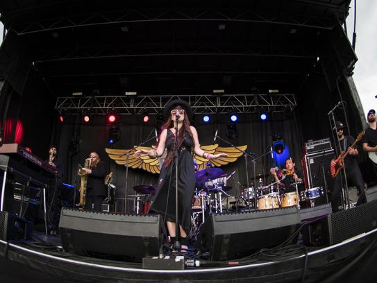 Kat Wright and the Indomitable Soul Band performs during