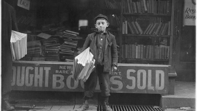 12 year old newsboy Hyman Alpert, New Haven, Conn., 1909.