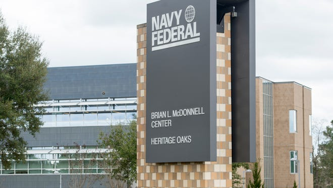 Navy Federal Credit Union campus on Nine Mile Road in Pensacola.