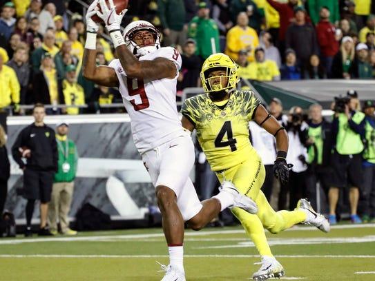 Washington State wide receiver Isaiah Johnson-Mack
