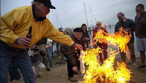 Photo of the annual Burning of the Socks
