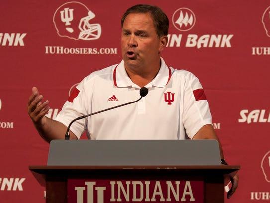 Indiana University football coach Kevin Wilson.