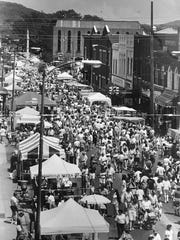 Crowds fill downtown Frankin's Main Street during the