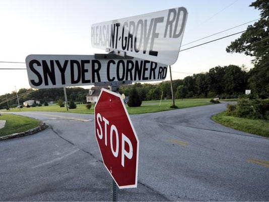 Crossroads of fatal accident in Windsor Twp. from last night.