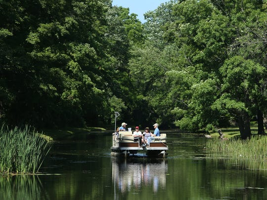 The Canal Explorer takes festival attendees for a ride around the canal during Waterloo Village's annual Canal Day Festival, a day of family fun and entertainment. June 25, 2016, Stanhope, NJ