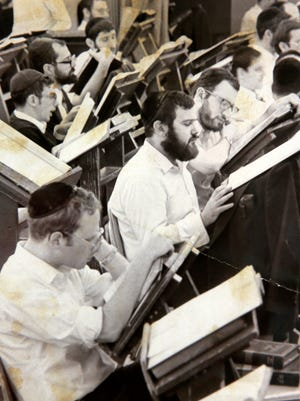 Asbury Park Press file photo of students in a study hall at Beth Medrash Govoha in Lakewood, NJ September 20, 1984.