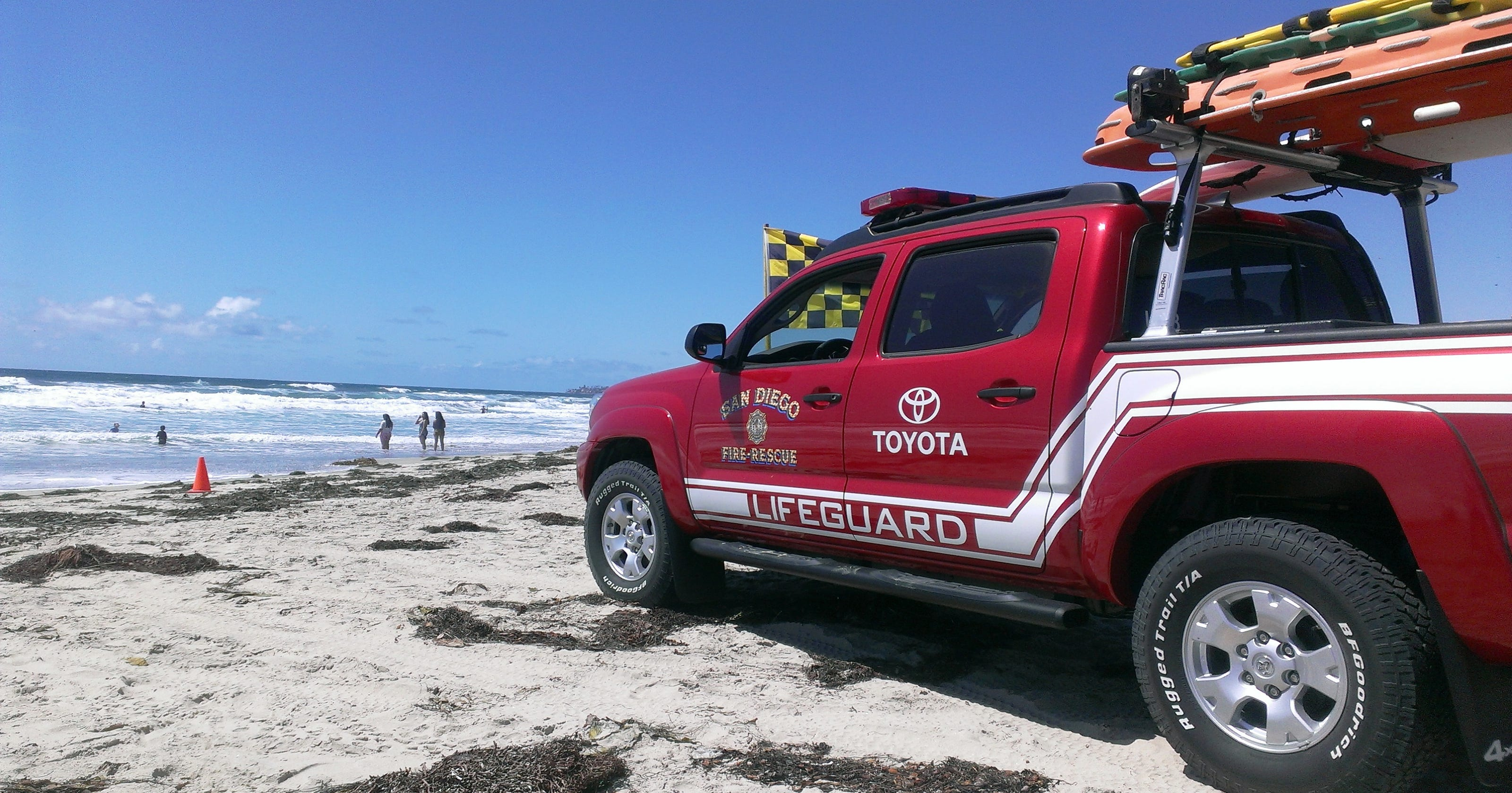 Surf's up! Automakers donate trucks to lifeguards