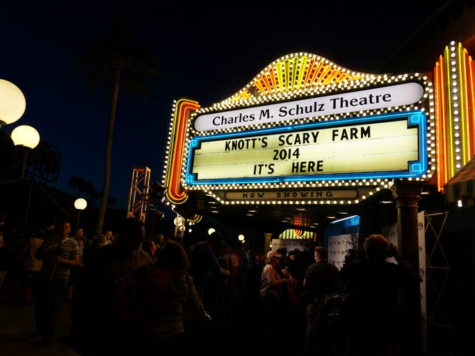 On Wednesday, Knott's Berry Farm hosted its annual unveiling event for Scary Farm, which opens Sep. 25 and runs through Nov. 1, complete with the Mistress of the Dark and a zombie scare.