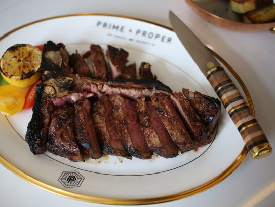 A 24-ounce porterhouse steak ($79) from Prime + Proper,