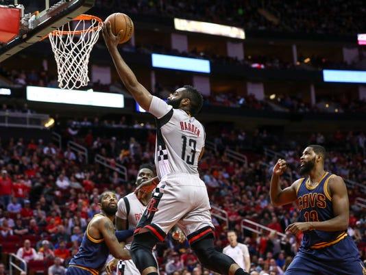 USP NBA: CLEVELAND CAVALIERS AT HOUSTON ROCKETS S BKN HOU CLE USA TX