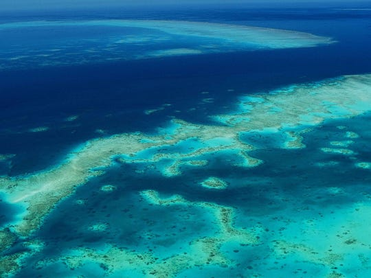 The Great Barrier Reef in Australia.