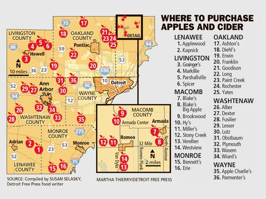Where to purchase apples and cider.