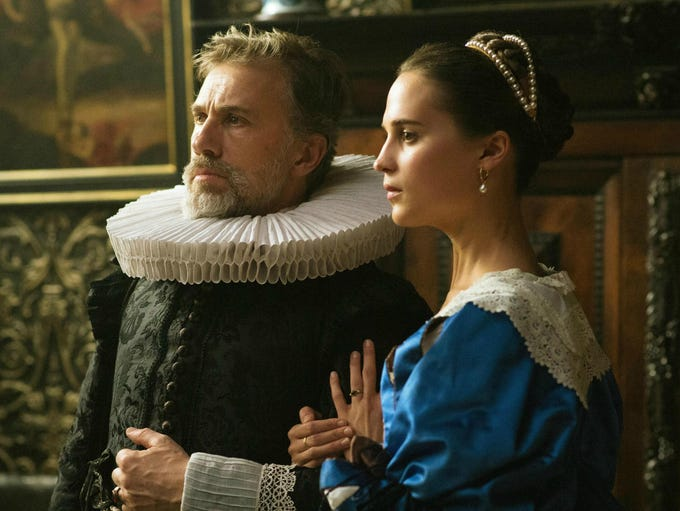 "Christoph Waltz and Alicia Vikander star in ""Tulip"