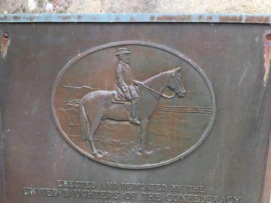 Robert E. Lee plaque in Franklin Township.