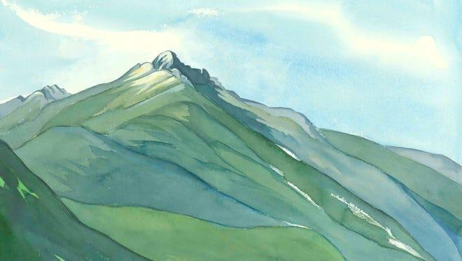 """""""Billy's Peak"""" by artist Olive Schroeder."""