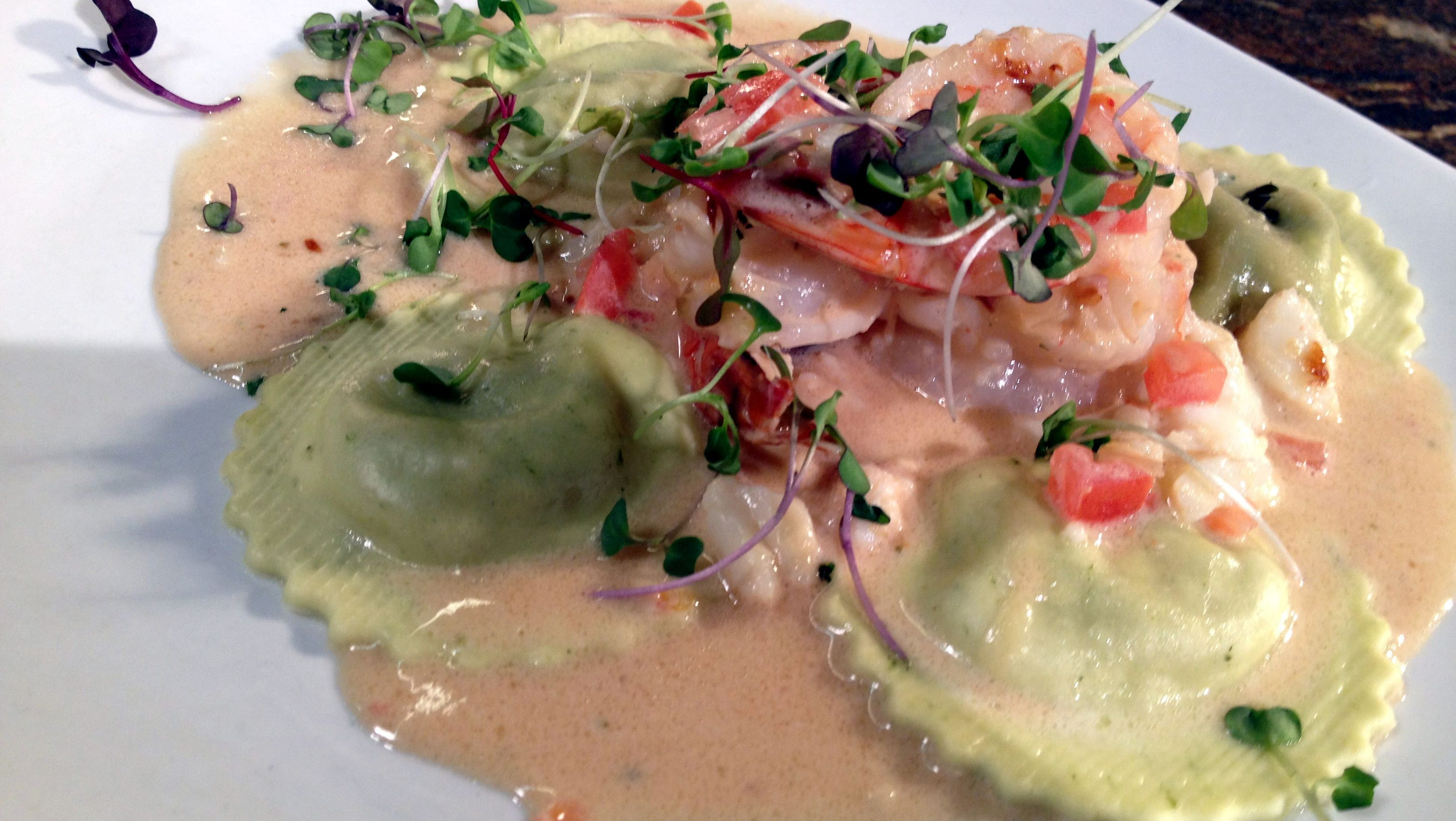 Shrimp and Crab Fondue Ravioli