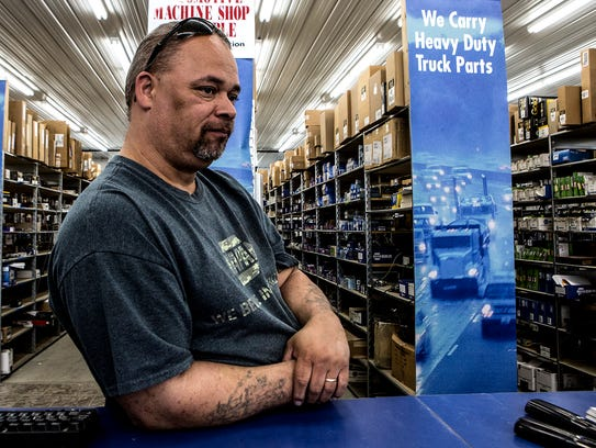 Jeremie Clifford, 45, who manages an auto parts store