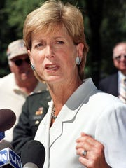 Gov. Christie Whitman skipped a state pension payment in 1996 to cover lost revenue from a tax cut.